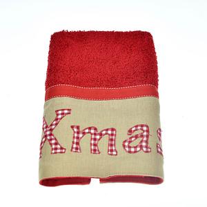 Χριστουγεννιάτικη κόκκινη πετσέτα προσώπου