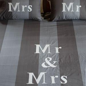 παπλωματοθήκη Mr & Mrs