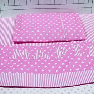 Παιδικό σετ σεντόνια, Ροζ αστέρια για κρεβάτι