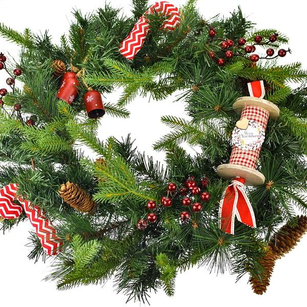 μεγάλο χριστουγεννιάτικο στεφάνι