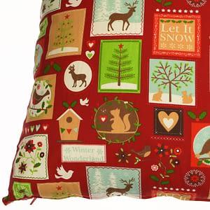Χριστουγεννιάτικη μαξιλάρα δαπέδου