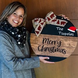 Χριστουγεννιάτικο στεφάνι 10